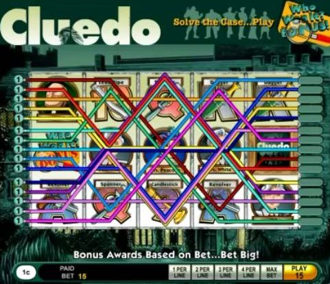 Cluedo, der Spielautomat des klassischen Brettspieles