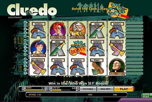 Cluedo Spielautomat von IGT
